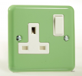 Varilight Pastel 1 Gang 13A Switched Socket Beyrl Green XY4W.BG